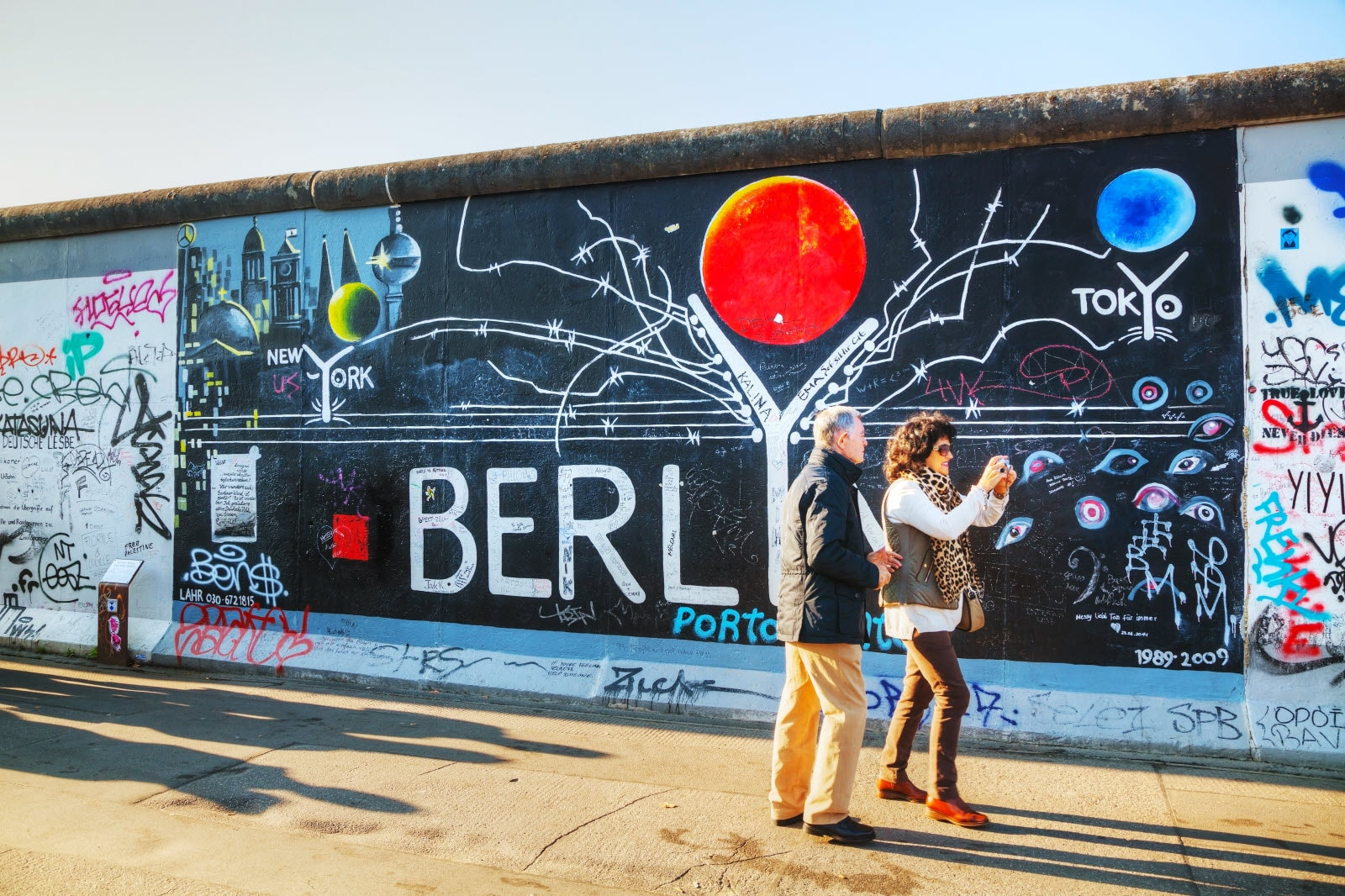 The Berlin wall with grafitti