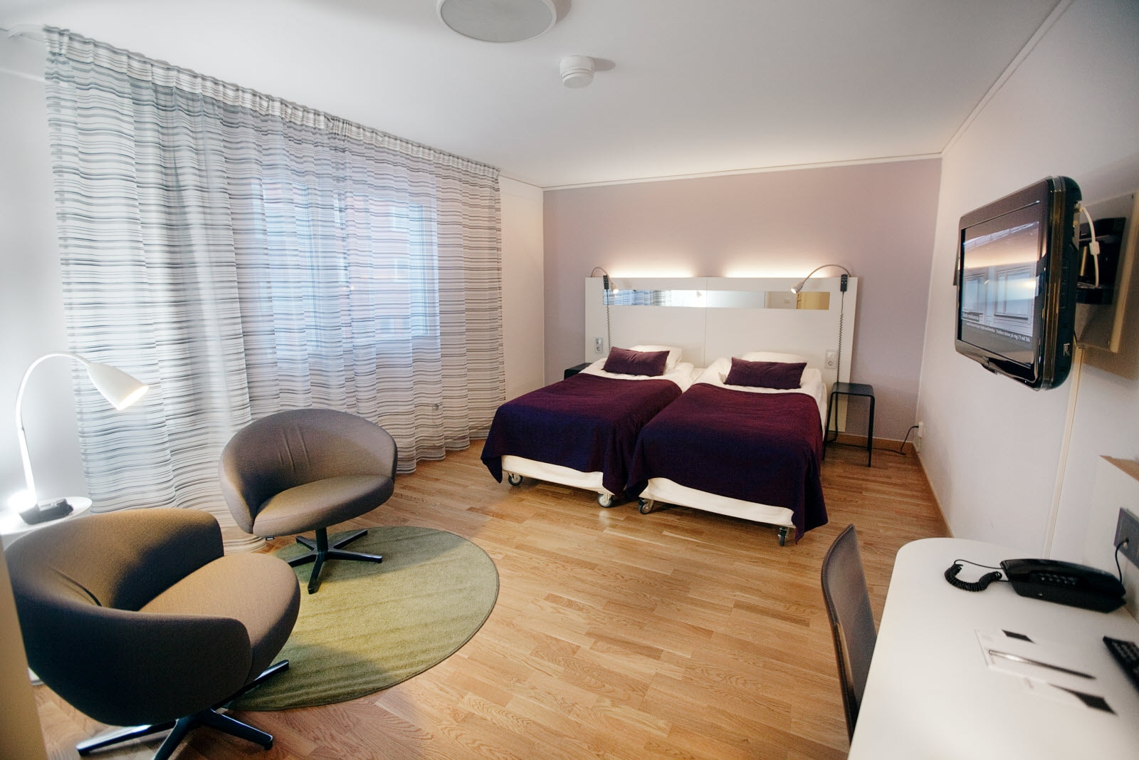 Uplandia, Twin room, Accessible, accessibility room