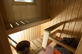 Sauna in room, Scandic Kajanus