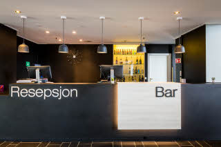 Reception and bar