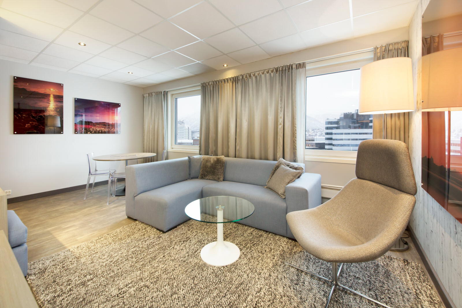 Interiør i Junior Suite, Scandic Grand Tromsø