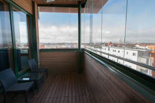 balcony of superior room at scandic oulu city in finland