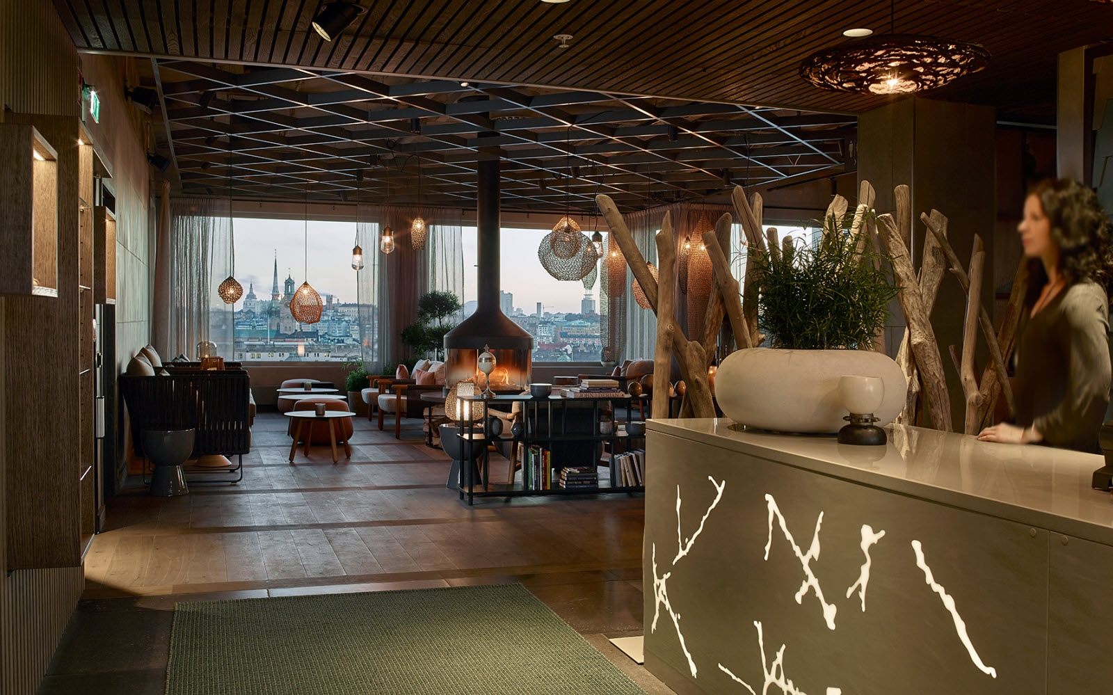 The Nest, wellness reception