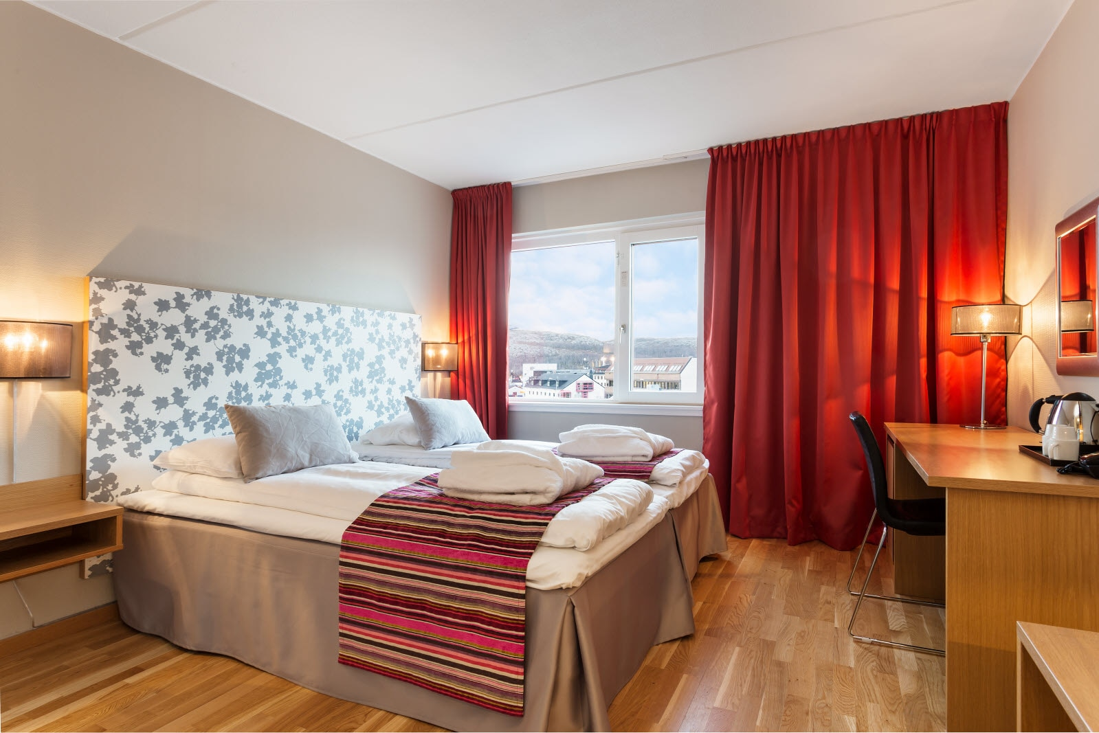 Dobbeltseng i Junior Suite, Scandic Kirkenes