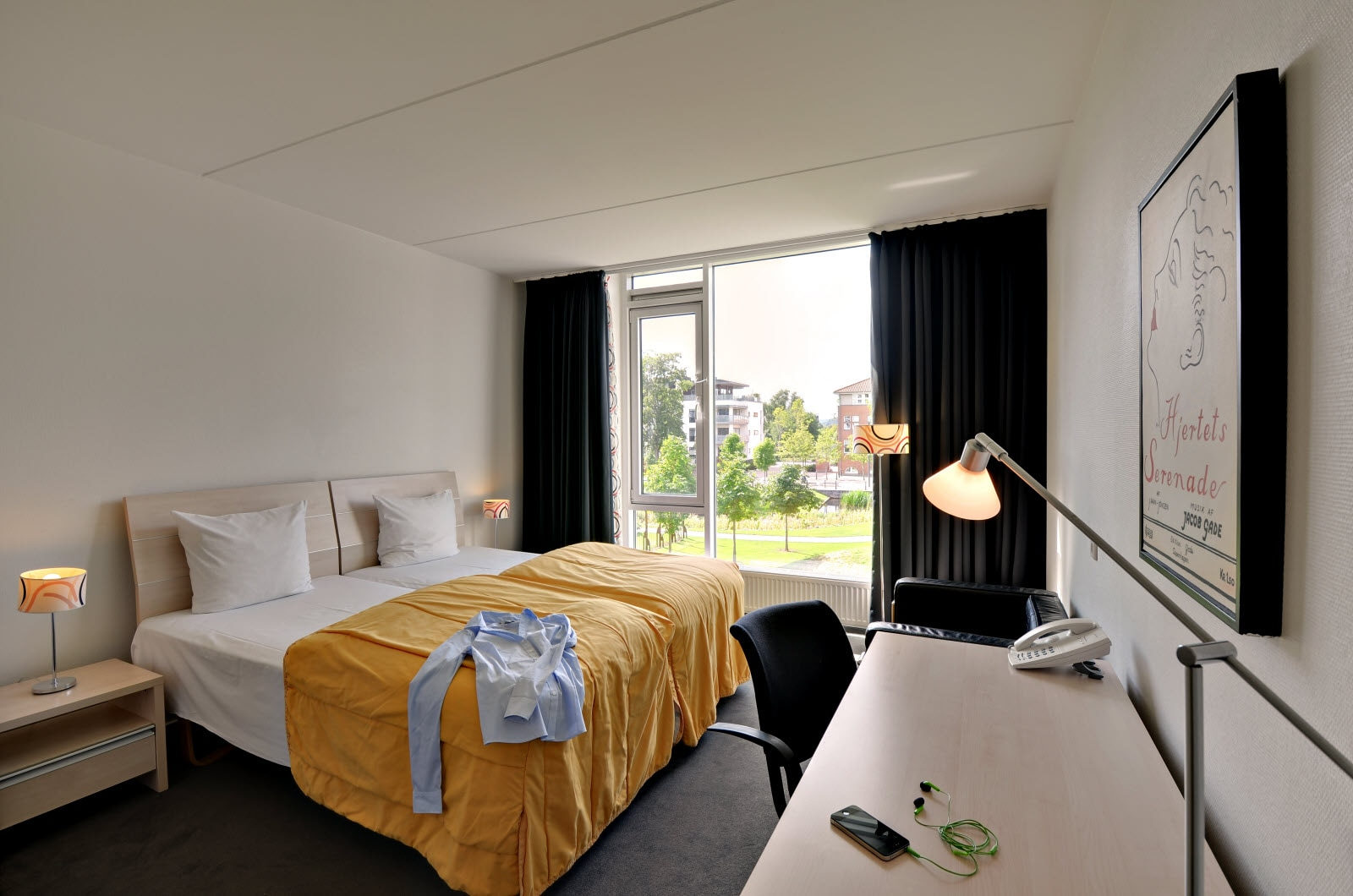 Scandic Jacob Gade, standard twin room
