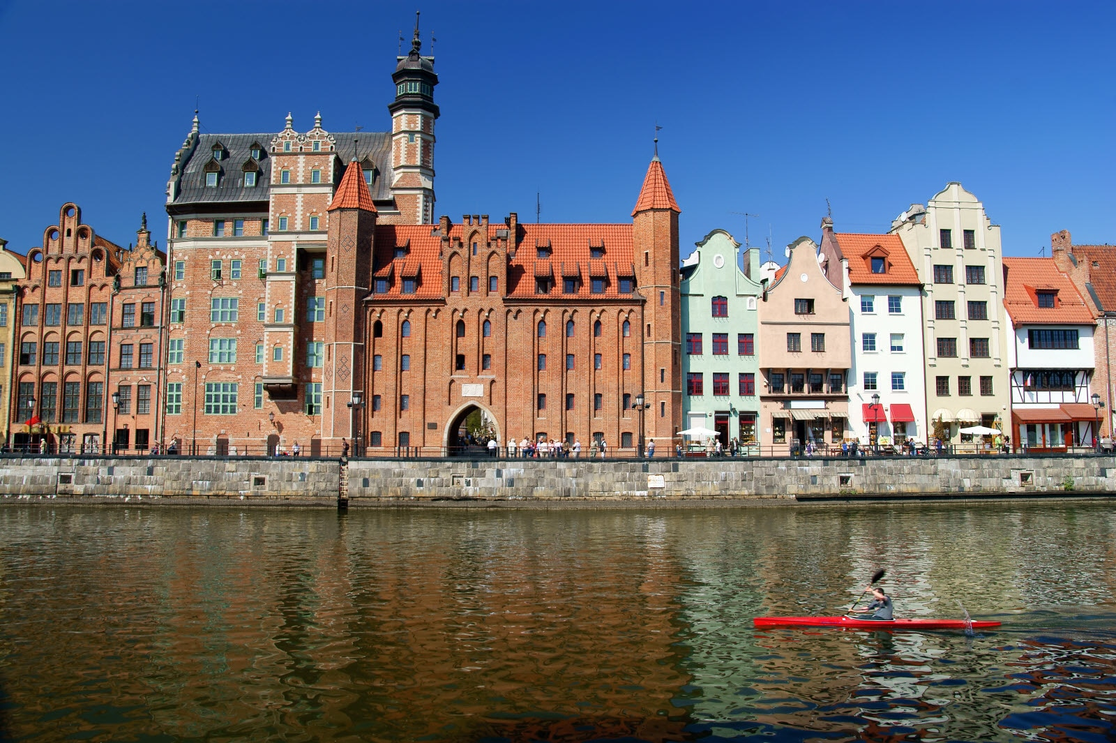 Gdansk, Danzig, Poland  shoreline from the 13th century