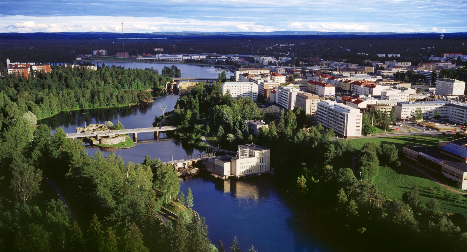 Kajaani aerial. Photographer Pekka Agarth