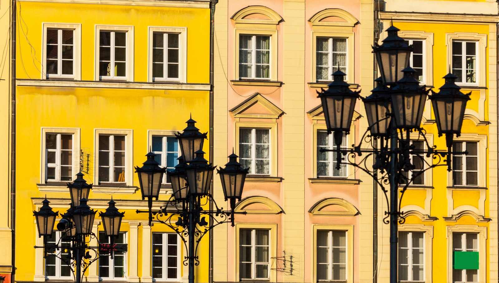 Market square tenements in Wroclaw, Poland